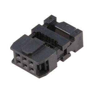 IDC 6-pin Mounting Socket for Connector Ribbon Flat Cable IDC6 Female