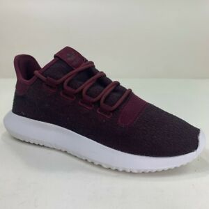 Adidas Mens Tubular Shadow Athletic Shoes Maroon CQ0927 Lace Up Low Top 8.5M New