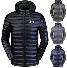 Men's New Under Armour Down Jacket Winter Thick Coat Hooded Warm Puffer Overcoat