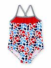 Healthtex Baby Girls Hearts One Piece Swimsuit, Red White Blue,  NEW Chooze SZ