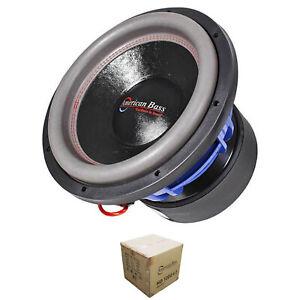 "American Bass 12"" HD Series 4000W Dual 2 Ohm Subwoofer HD12D2-V2"