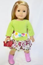 Modern Floral Outfit with Accessories for American Girl Dolls