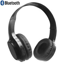 Wireless Bluetooth On Ear Headphones Stereo Headset with Microphone Black