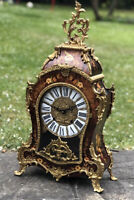 Impressive Marquetry And Brass Decorated Clock With Ting Tang Chime.