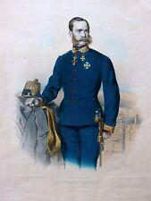 Emperador Franz Josef i Austria coronel genio regimiento mostrarían Eduard emperador 1860