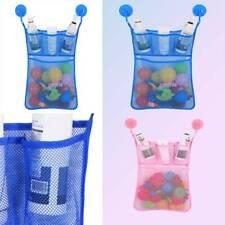 Baby Bath Toy Storage Net Suction Cup Bag Mesh Shower Bathroom Organiser Bag Co