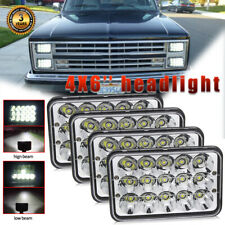 For 1981-1987 Chevy C10 Pickup 4x6'' Rectangular LED Headlight High Low Beam 4pc