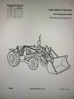 CASE 480B WHEEL TRACTOR LOADER BACKHOE PARTS CATALOG BOOK MANUAL