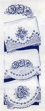 Vintage Embroidery transfer repo 666 Lovely Florals for 3 Pillow Cases 1950s