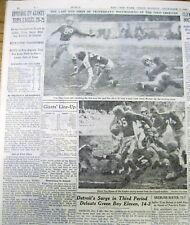 1945 NY Times newspaper NFL Football games CLEVELAND RAMS Washington Redskins ++