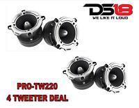 "TW220 Super Loud Tweeter Silver  Compression 1"" Bullet 700W (4) DS18 PRO-TW210"