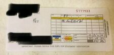Vtg 1983? Used Written Bankcard Sales Slip Credit Card Bank Visa Mastercard Copy