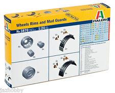 Italeri 3870 1/24 Model Kit Truck Accessories Wheels Rims and Mud Guards Set