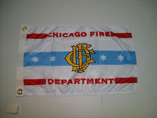 """Chicago Fire Department Flag 22"""" x 34"""""""