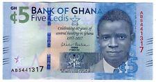**   GHANA     5  cedis   2017   p-43a    UNC   **