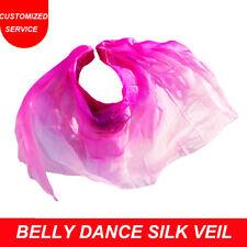 Hot selling women 100% silk belly dance silk veil cheap dance veils on sale