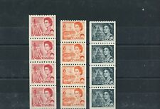 3 strips of Centennial issue coil strips of 4 MNH,  Canada mint