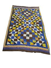 More details for 672a-beautiful vintage handmade patchwork kantha quilt throw reversible ralli