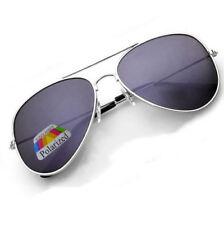 Gafas de sol de mujer aviadores de plata de metal