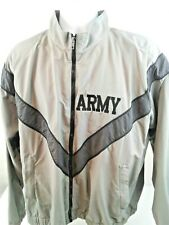 Skilcraft Mens Gray/Dark Gray Trim Full Zip Elastic Waist Army Jacket Size M