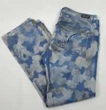 NWT $458 ROBIN'S JEAN BLUE CAMO AMPLIFIED DISTRESSED MENS JEANS 42 LONG FLAP