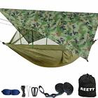Camping Hammock with Mosquito Net and Rain Fly XL - Large Camo+army Green