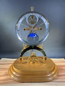 Vintage Great Wheel Fusee Driven Skeleton Clock