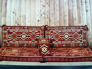 Arabic Oriental Eastern Floar Seating Sofa Set Cushion Cover Hookah Lounge Couch