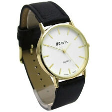 Ravel Mens Classic Quartz Watch Black Strap White Face R0129.01.1