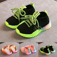 Newborn Toddler Kids Baby Girl Boy Mesh LED Light Luminous Sport Shoes Sneakers