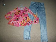 Lot Of 2: Girls Skinny Jeans By H&M/ 1 Smock Top. Size 10/11