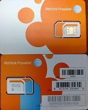 AT&T OEM NANO 4G LTE sim card   NEW UNACTIVATE, TRIPLE CUT SIM (3 IN 1)