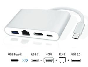 4 IN 1 Usb C HUB Type-C To HDMI 4K+Gigabit Ethernet (RJ45 )+USB 3.0 3.1 Adapter