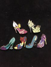 Disney Pin Lot Of 6 Princess Heels Snow White Tiana Aurora Ariel Set