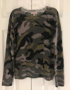 NWOT PHILOSOPHY 100% CASHMERE Camo Green Combo Sweater - Size X-Small