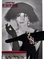 VINTAGE CORO JEWELCRAFT AURORA BOREALIS RUBY RHINESTONE BRACELET 50s BRIDAL GIFT