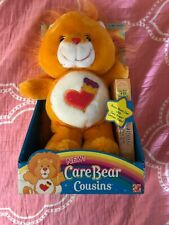 Care Bears Cousins Brave Heart Lion Plush & #15 VHS Cartoon Video New in Box