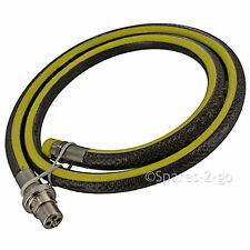 "Extra Long UNIVERSAL Oven Cooker Gas Hose Bayonet Straight Pipe 6ft 1/2"" LPG"