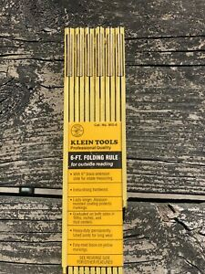 KLEIN TOOLS 6 FOOT FOLDING WOOD RULE WITH BRASS EXTENSION BRAND NEW SHIPS FREE