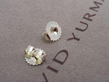 David Yurman Sterling Silver DY Butterfly Medium Earring Backs Clutches Clasps