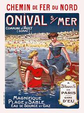 Affiche chemin de fer Nord - Onival-sur-Mer
