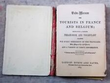 Vade-Mecum for Tourists in France and Belgium. Phrase book & Vocabulary 1875
