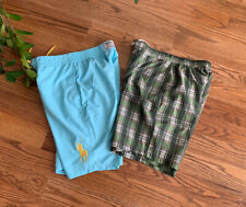 Lot of 2 Polo Ralph Lauren/Roundtree & Yorke Swimm Board Shorts Boys Size 14-16