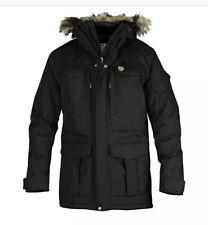 NEW FJALLRAVEN Yupik Parka Men's XL Black Winter Jacket Fur Hooded Coat MSRP$500