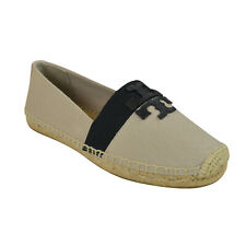 Tory Burch Weston Espadrille Canvas Flat in Natural/ Black 7