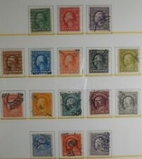 U.S.Stamps:Scott#424,- #440, 1c-50c, The Wash.-Frank., Perf 10, issues 1913-1915
