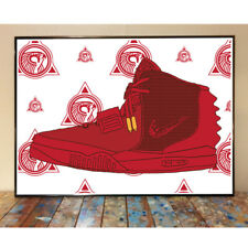 NIKE AIR YEEZY 2 RED OCTOBER KANYE WEST SNEAKER ART PRINT POSTER ADIDAS