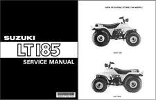 1984-1985-1986-1987 Suzuki LT185 QuadRunner Service Manual on a CD - LT 185