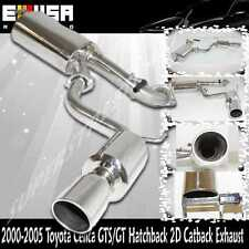00 01 02 03 04 05 Toyota Celica GT/GTS Hatckbach 2D 1.8L 2ZZ GE Catback Exhaust