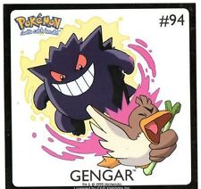 STICKER ENFANT POKEMON GENGAR COLLECTION 94 LICENCE
